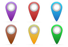 Pointer of map Royalty Free Stock Photos