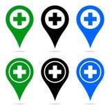 Pointer mapy szpilki nawigacja plus znak ilustracji