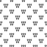 Pointer marks pattern vector. Pointer marks pattern seamless in simple style vector illustration Royalty Free Stock Photos