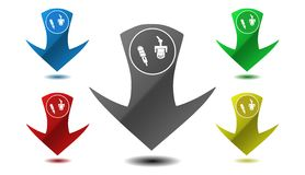 Pointer microphone icon, sign, illustration Stock Photo