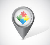 Pointer puzzle pieces illustration design Stock Photos