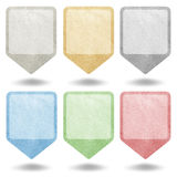 Pointer recycled paper Royalty Free Stock Photo