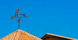 Pointer on the roof north. South east west stock photography
