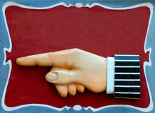 Pointer Sign Royalty Free Stock Photo