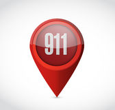 911 pointer sign concept illustration design Stock Photography