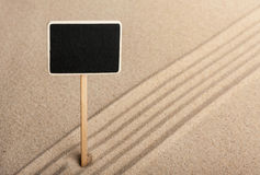 Pointer  standing in the sand Royalty Free Stock Images