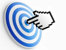 Pointer and target Royalty Free Stock Image