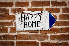 Pointer to a happy home Royalty Free Stock Photography