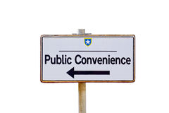 Pointer to public toilet Royalty Free Stock Photography