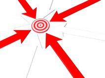 Pointer to target. 3d arrow Stock Photos