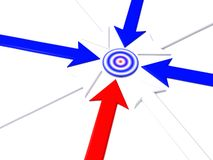 Pointer to target. On white. 3d Stock Images