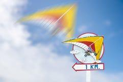 Pointer on trike plane flight Royalty Free Stock Photos