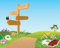 Pointer of way. Road forward. Stock Photo