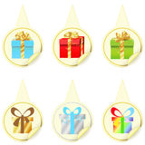 Pointers with gifts Stock Photo