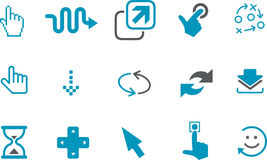 Pointers Icon Set Stock Images