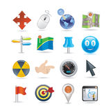 Pointers Icon Set Stock Photography
