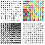 100 pointers icons set vector variant. 100 pointers icons set vector in 4 variant for any web design isolated on white stock illustration