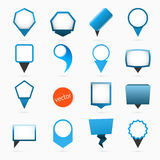 Pointers labels vector graphics, blue variant Royalty Free Stock Image