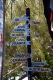 Pointers to countries of the world. Gili Trawangan Island, Indonesia Royalty Free Stock Photography