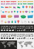 Pointers. Vector set of various map icons and pointers Royalty Free Stock Photography
