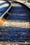 Pointes de train Photos stock