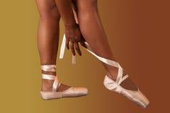 Pointes do bailado Fotos de Stock Royalty Free