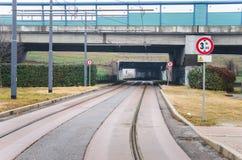 Pointes vides de tram Photographie stock
