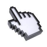 Pointeur stylisé de main Photos libres de droits