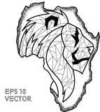 Pointilism ENV dell'Africa del leone di contorno Fotografia Stock