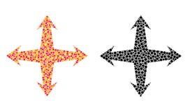 Pointillé augmentez les icônes de mosaïque illustration stock
