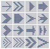 Pointille des flèches de mosaïque Images libres de droits