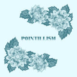 Pointillism floral composition Stock Photography