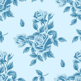 Pointillism floral pattern Stock Photography