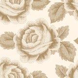Pointillism floral pattern Stock Photo