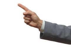 Pointing. Finger Royalty Free Stock Photos