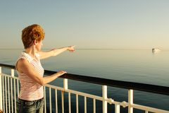 Pointing another ship Royalty Free Stock Photo