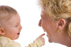 Pointing baby stock images