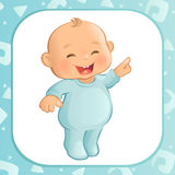 Pointing Baby Boy (Vector) Royalty Free Stock Photo