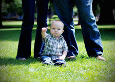 Pointing Baby - horizontal Stock Photo