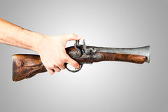 Pointing a Blunderbuss Stock Photo