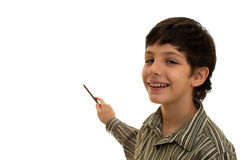 Pointing boy Stock Photo