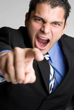 Pointing Business Man Stock Image