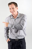 Pointing business man Stock Photo