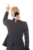 Pointing business woman from back Royalty Free Stock Photos