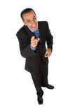 Pointing businessman Stock Photography