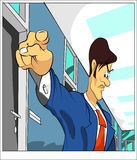 Pointing businessman Royalty Free Stock Photos