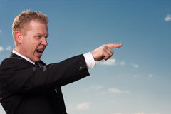 Pointing businessman Stock Photos