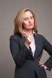 Pointing businesswoman Royalty Free Stock Image