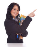 Pointing businesswoman Stock Images