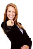 Pointing businesswoman Royalty Free Stock Photos